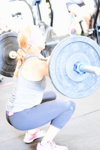 A picture of one of our CrossFit family members training.